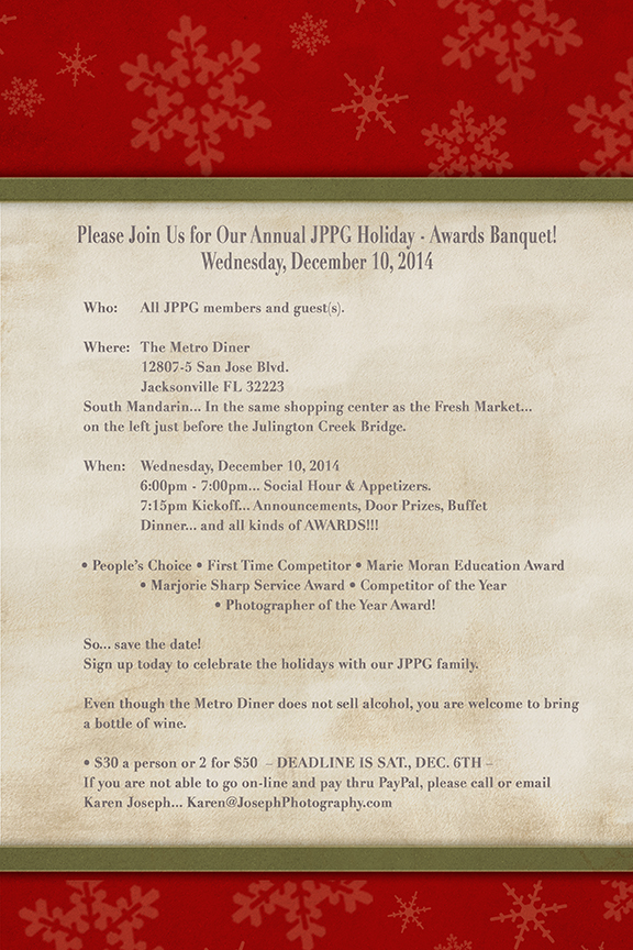 2014 JPPG Holiday Awards Invite MNB